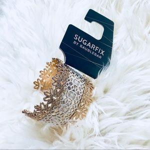 *5 FOR $25* NWT Sugarfix Gold Lace Cuff Bracelet